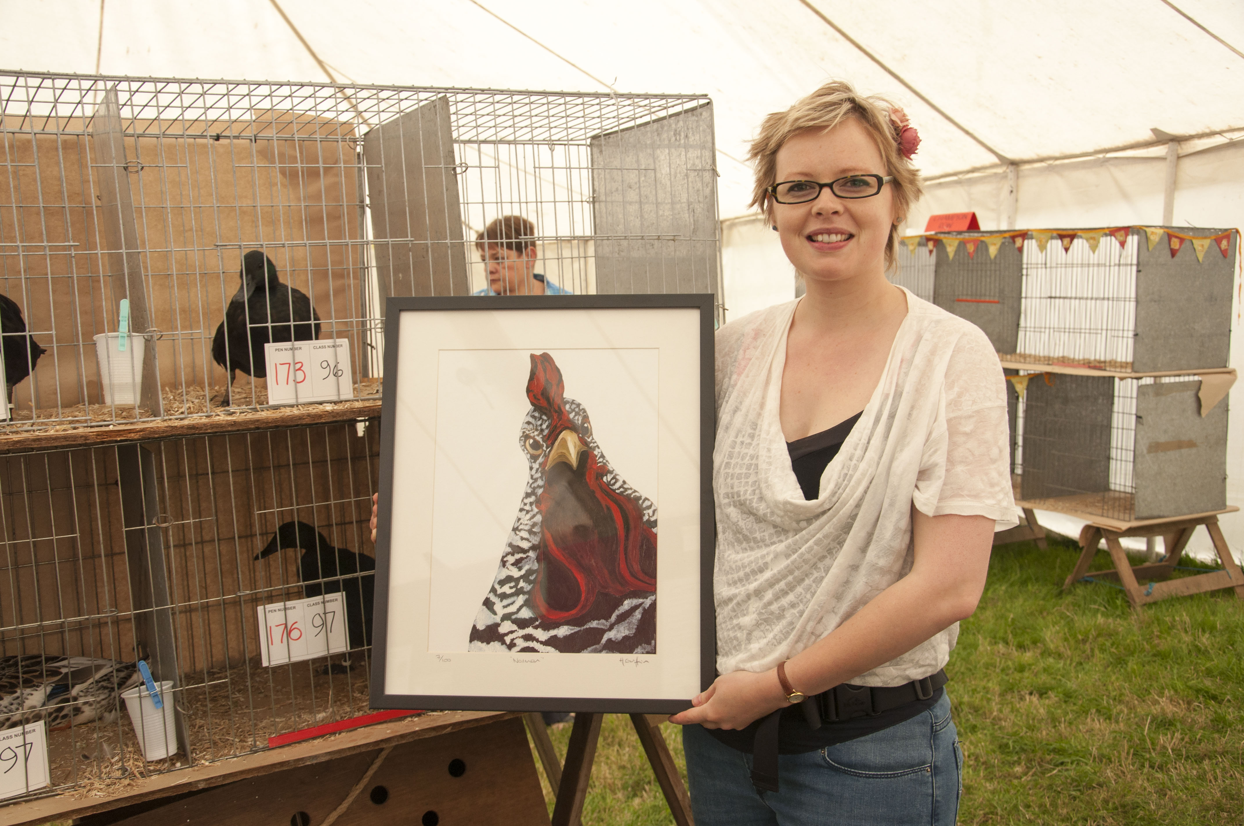 hen paintings